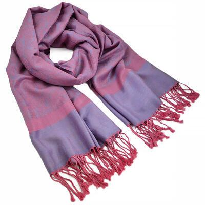 Šála teplá - růžovo-fialová