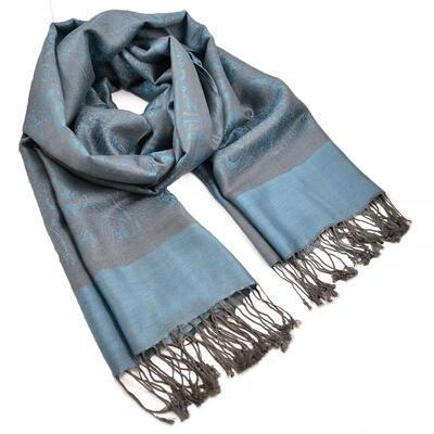 Šála teplá - modro-šedá