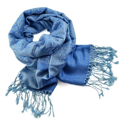 Šála teplá 69cz001-31 - modrá jednobarevná - 1