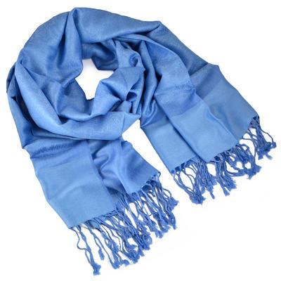 Šála teplá - světle modrá