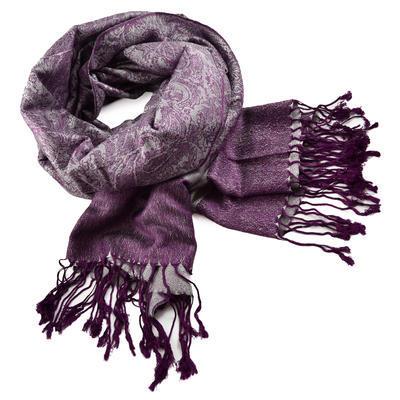 Šála teplá 69cz001-35a- fialová jednobarevná - 1