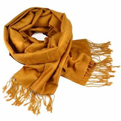 Šála teplá - zlatá jednobarevná