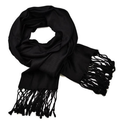 Classic cashmere scarf - solid black
