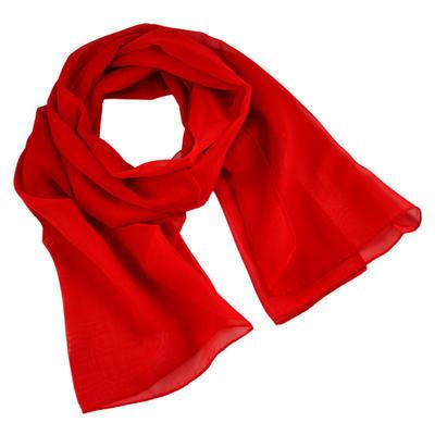 Šála vzdušná 69kl001-20 - červená jednobarevná