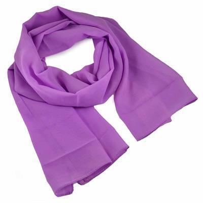 Šála vzdušná - světle fialová jednobarevná