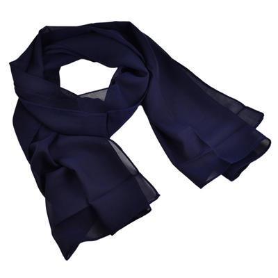 Šála vzdušná 69kl001-36 - tmavě modrá jednobarevná