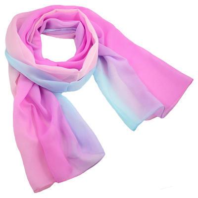 Šála vzdušná - růžovomodré ombre
