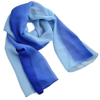 Šála vzdušná - modré ombre