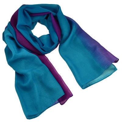 Šála vzdušná - modrofialové ombre