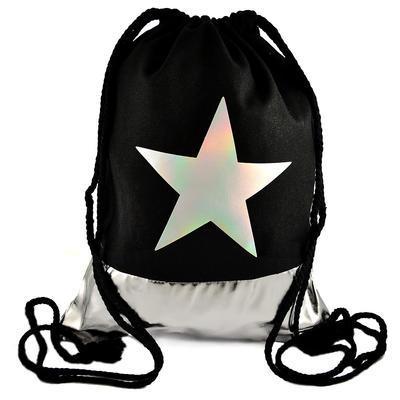 Látkový vak - černý s hvězdou