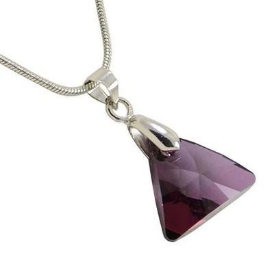 Náhrdelník Swarovski Elements Triangle 339akt6628-16-33 - fialový