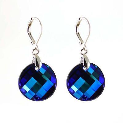 Náušnice Swarovski Elements Twist 713akt6621-18-30 - tmavě modré