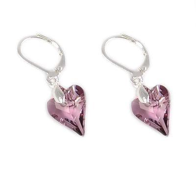 Wild Heart Antiqupink earrings made with SWAROVSKI ELEMENTS