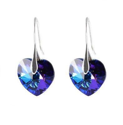 Náušnice Swarovski Elements Srdce 713akt6228-14-30ab - modré