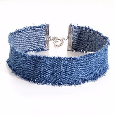 Náhrdelník choker 34ac001-30 - modrý - 1