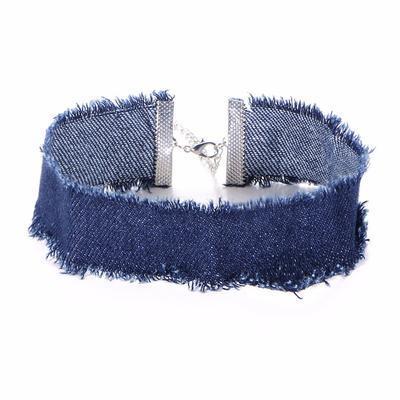 Náhrdelník choker 34ac001-30a - modrý - 1