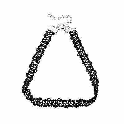 Náhrdelník choker 34ac001-70e - černá krajka - 1
