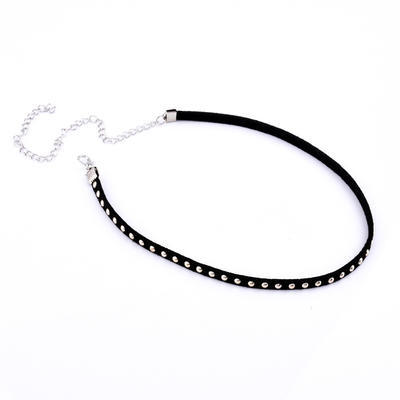 Náhrdelník choker 34ac001-70i - černé cvočky - 1