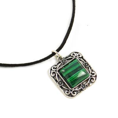 Náhrdelník dámský - zelený