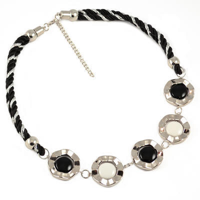 Necklace - black and white - 1