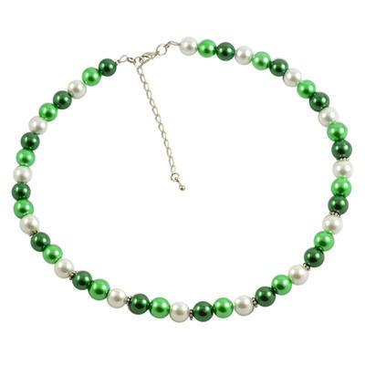 Náhrdelník krátký 34bm002-50.01 - zelenobílý