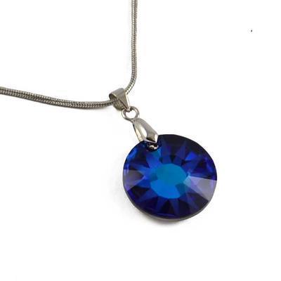 Náhrdelník Swarovski Elements Sun 339akt6724-19-30 - modrý