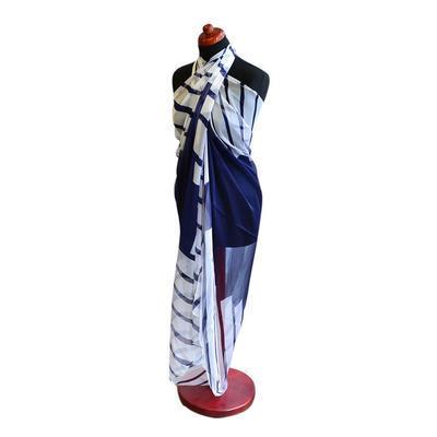 Pareo dámské Astarte par003-01.36 - modrobílé s pruhy