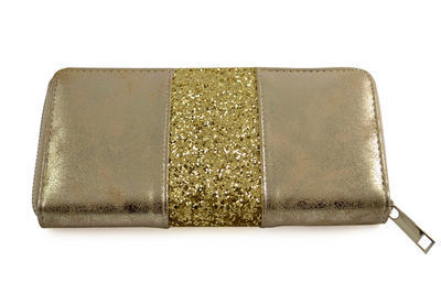 Peněženka pen01-13 - zlatá s flitry