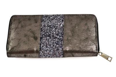 Peněženka pen01-71a - šedá s flitry