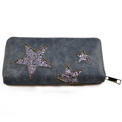 Peněženka pen03-30.71 - modrá s hvězdičkami - 1
