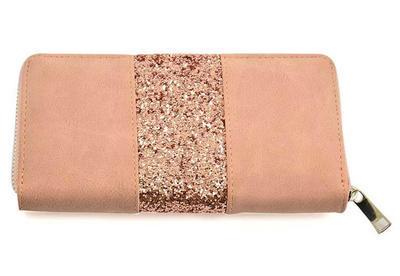Peněženka pen01-23 - růžová s flitry - 1