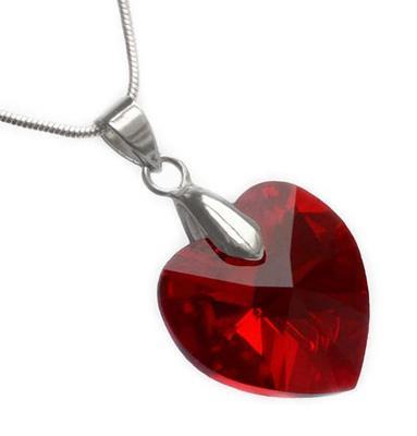 Přívěsek Swarovski Elements Srdce 339akt6228-14-20 - červený