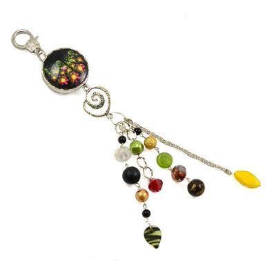 Klíčenka - přívěsek na kabelku pr004-70.52 - zelenočerná