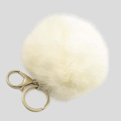 Přívěsek na kabelku - klíčenka prq125-01- bílý