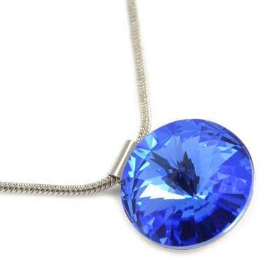 Přívěsek Swarovski Elements Rivoli 339fx16123-30 - modrý