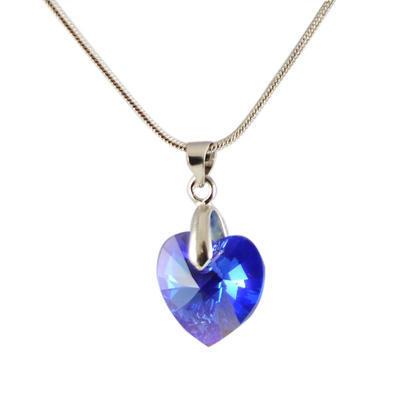 Přívěsek Swarovski Elements Srdce 339akt6228-14-30a - modrý