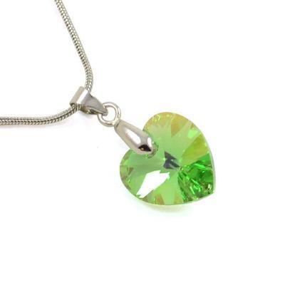 Náhrdelník Swarovski Elements Srdce 339akt6228-14-51ab - zelený