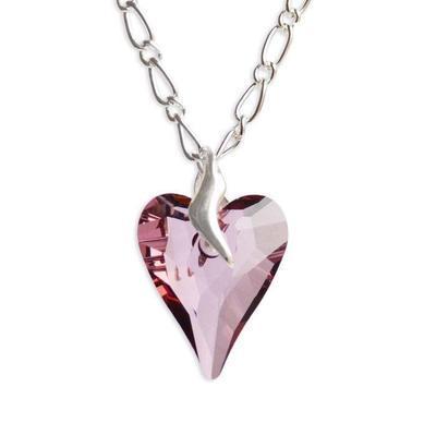 Přívěsek Swarovski Elements Srdce WildHeart 339akt6240-27-28 - růžový