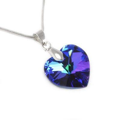Přívěsek Swarovski Elements Srdce 339akt6228-14-30ab - modrý