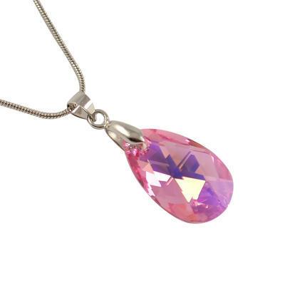 Přívěsek Swarovski Elements Pear 339akt6106-22-23 - růžový