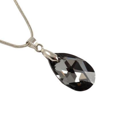 Přívěsek Swarovski Elements Pear 339akt6106-22-71 - šedý