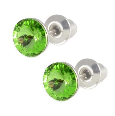 Rivoli Peridot Mikro earrings made with SWAROVSKI ELEMENTS