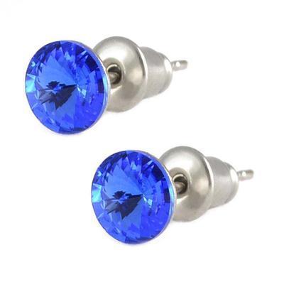 Náušnice Swarovski Elements pecky Rivoli 713fx1122-6-30 - modré
