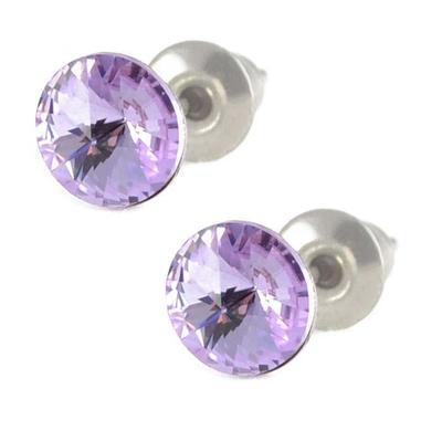 Rivoli Violet Mikro earrings made with SWAROVSKI ELEMENTS