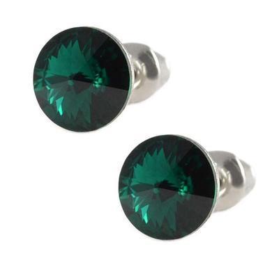 Rivoli Emerald Mini earrings made with SWAROVSKI ELEMENTS