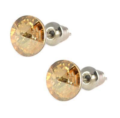 Náušnice Swarovski Elements pecky Rivoli 713fx1122-8-14 - zlatobéžové