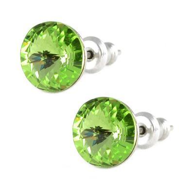 Rivoli Peridot Mini earrings made with SWAROVSKI ELEMENTS