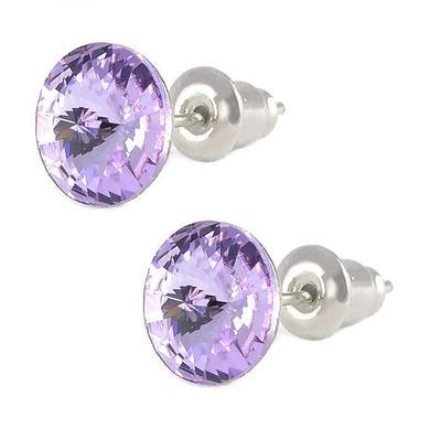 Rivoli Violet Mini earrings made with SWAROVSKI ELEMENTS