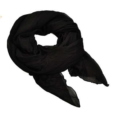 Šála bavlněná Classic 69cl001-70 - černá