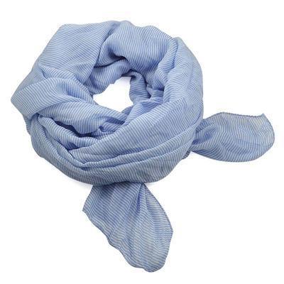 Šála Classic 69cl003-31.01 - bledě modrá pruhovaná - 1